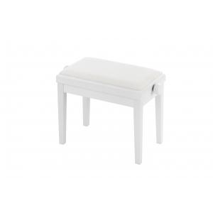 Grenada BG 27 ława do fortepianu, kolor: biały mat, obicie  (...)