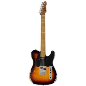 LTD TE-254D 3TS gitara elektryczna, Distressed 3-tone Sunburst