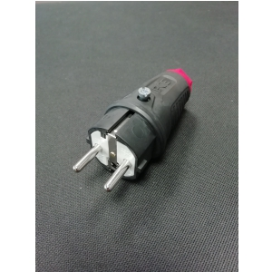 PCE wtyk gumowy nakablowy 16A/230V IP44.