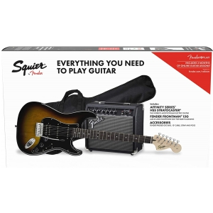 Fender Squier Affinity Stratocaster HSS Pack Brown  (...)