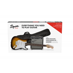 Fender Squier Stratocaster Pack Brown Sunburst, gitara  (...)