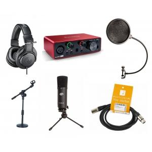 Crono Studio 101 XLR BK RP3 - Recording Pack 3 - Zestaw  (...)