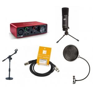 Crono Studio 101 XLR BK RP2 - Recording Pack 2 - Zestaw  (...)