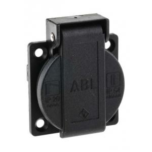 ABL gniazdo tablicowe schuko 16A/230V IP20/IP54 czarne