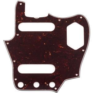 Fender Pure Vintage Pickguard, 65 Jaguar 10-Hole Mount, Brown Shell, 3-Ply