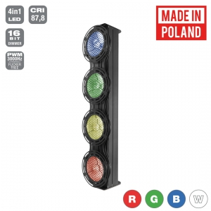 Flash Pro JETO SUNAX1 4x30W 4in1 COB RGBW 4 SECTIONS mk2 -  (...)