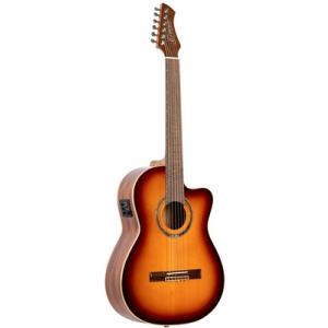 Ortega RCE238SN-FT gitara elektroklasyczna z pokrowcem