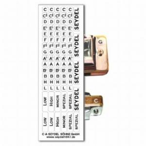 Seydel 905000B naklejki z oznaczeniami tonacji do harmonijek ustnych