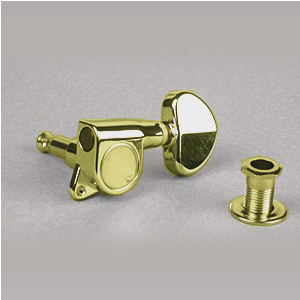 Ibanez 2MH4LA0009-R klucz do gitary gold prawy HALF moon knob