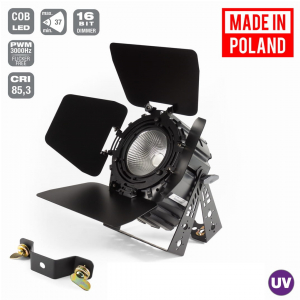 Flash Pro LED PAR 64 200W UV COB + BARNDOOR SHORT mk2  (...)