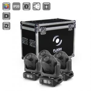 Flash 4 x LED Moving Head 90W DIAMOND - Roto Prism -  (...)