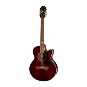 Epiphone J200 EC Studio Parlor Solid Top Fishman Wine Red gitara elektroakustyczna