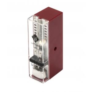 Wittner 903012 Super Mini metronom mechaniczny bez akcentu, kolor czerwony rubin