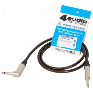4Audio GT1075 1m przewód gitarowy Jack kątowy Jack