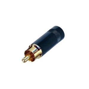 Rean NYS 352 BG wtyk RCA na kabel,  złocony, czarny