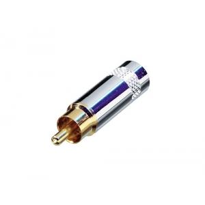 Rean NYS 352 G wtyk RCA na kabel,  złocony