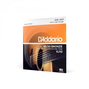 D′Addario EJ-10 struny do gitary akustycznej 80/20 bronze  (...)