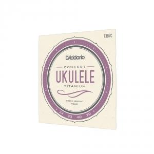 D′Addario EJ-87C ″Titanium Concert″ struny do ukulele
