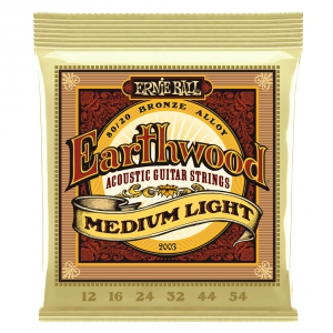 Ernie Ball 2003 Earthwood Medium Light struny do gitary  (...)