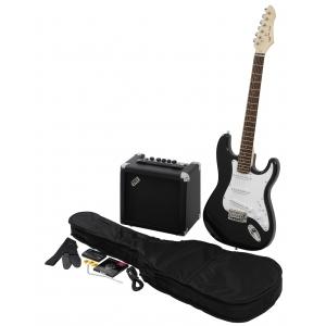 VGS RC-100  gitara elektryczna czarna - zestaw