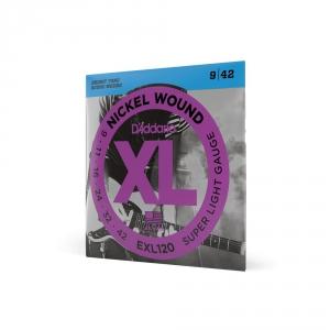 D′Addario EXL 120 struny do gitary elektrycznej 9-42