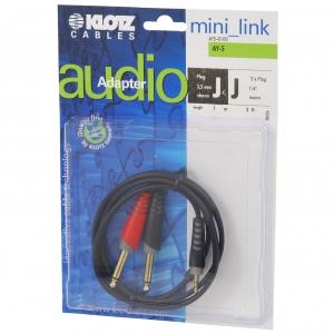 Klotz AY5 0100 kabel mini TRS / 2xTS  1m