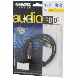 Klotz MID-010 kabel MIDI 1m