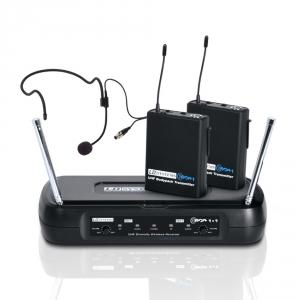 LD Systems WS ECO2x2 BPH1 mikrofon bezprzewodowy nagłowny, podwójny (863.100 MHz / 864.500 MHz)