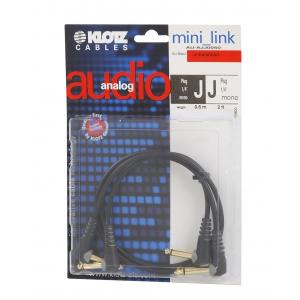 Klotz AU AJJ0060 kabel patch stompbox 60cm, TS kątowe (2  (...)