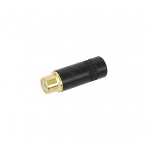 Rean NYS-372P-BG gniazdo nakablowe RCA cinch, czarne złocone
