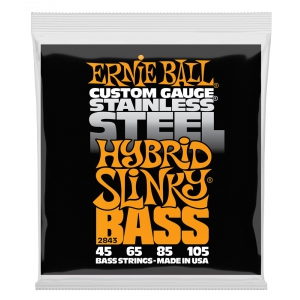 Ernie Ball 2843 Stainless Steel Bass struny do gitary basowej 45-105