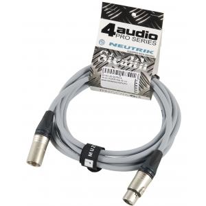 4Audio MIC PRO 3m Grey przewód mikrofonowy XLR-F - XLR-M z  (...)
