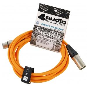 4Audio MIC PRO 3m Orange przewód mikrofonowy XLR-F - XLR-M  (...)