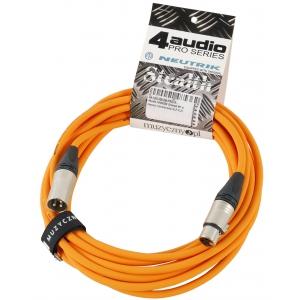 4Audio MIC PRO 6m Orange przewód mikrofonowy XLR-F - XLR-M  (...)