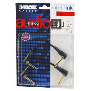 Klotz AU AJJ0015 kabel patch stompbox 15cm, TS kątowe (2  (...)
