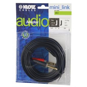 Klotz AY5 0600 kabel mini TRS / 2xTS  6m