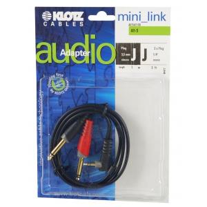 Klotz AY5 A0100 kabel mini TRS kątowy / 2xTS  1m