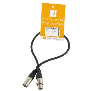 4Audio MIC 0,5m przewód mikrofonowy XLR-F - XLR-M