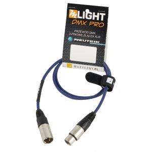 MLight DMX Pro 1 pair 110 Ohm 1m przewód DMX 3-pin XLR XLR  (...)