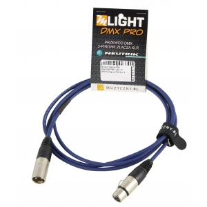 MLight DMX PRO 1 pair 110 Ohm 2m przewód DMX 3-pin XLR XLR  (...)