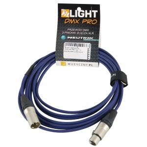 MLight DMX PRO 1 pair 110 Ohm 5m przewód DMX 3-pin XLR XLR Neutrik