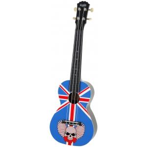 Korala PUC 30-003 ukulele koncertowe Union Jack With Skull
