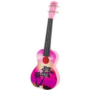 Korala PUC 30-007 ukulele koncertowe Pink Palm Tree