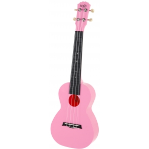 Korala PUC 20 PK ukulele koncertowe poliwęglan, kolor różowy
