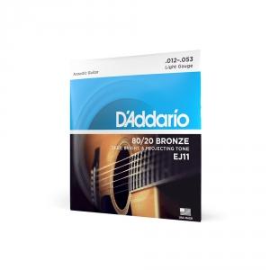 D′Addario EJ-11 struny do gitary akustycznej 80/20 bronze  (...)