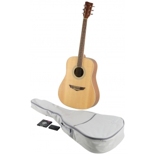 VGS Mistral gitara akustyczna drednought natural zestaw