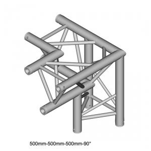 DuraTruss DT 33 C33-LD 90° Corner + down 50cm element konstrukcji aluminiowej - narożnik
