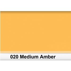 Lee 020 Medium Amber filtr barwny folia - arkusz 50 x 60 cm