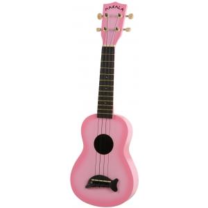 Kala Makala SD-PKBUR ukulele sopranowe, Pink Burst