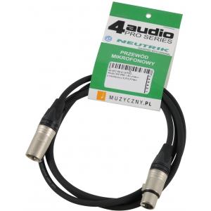 4Audio MIC PRO 1,5m przewód mikrofonowy XLR-F - XLR-M  (...)